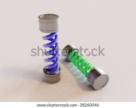 There is a T-virus & antidote - stock photo