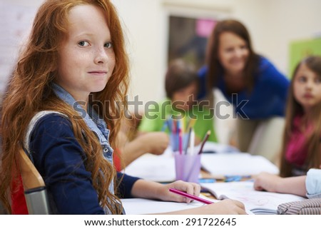 There is always good atmosphere during our lessons - stock photo