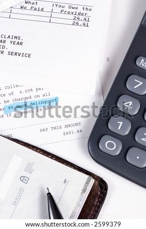 There is never enough money to go around. 90 days late. - stock photo