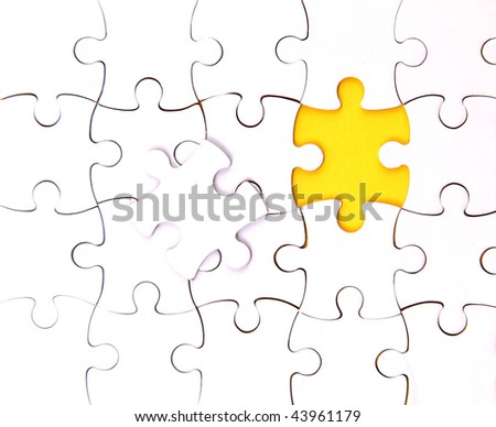 There is no one element , blank, puzzle - stock photo