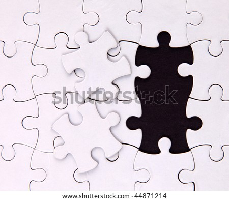 There is no two elements , blank, puzzle - stock photo
