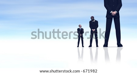 There's always someone bigger than you! - stock photo