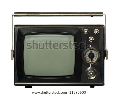 There you can see an old-fashioned black tv