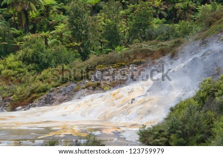 Thermal attraction in new Zealand - stock photo
