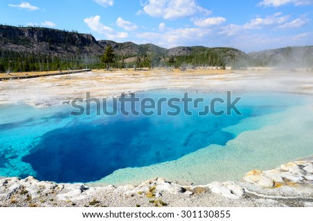 Thermal Features at Yellowstone National Park - stock photo