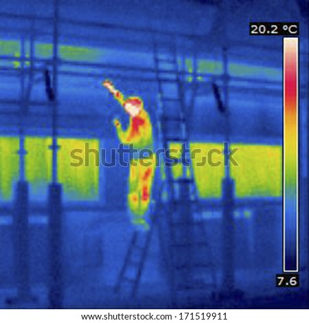 Thermal imaging - stock photo
