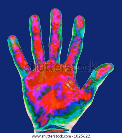 Thermal Imaging Hand - stock photo