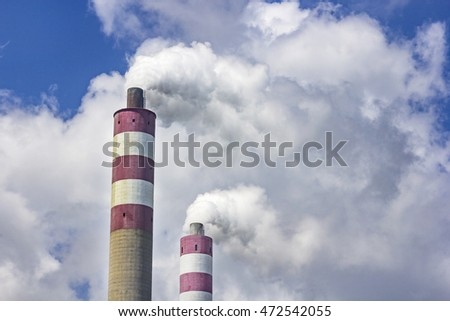Thermal power plant chimney features