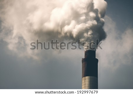 Thermal power plant, in the central province of Hebei China - stock photo
