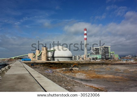 Thermal power plant under construction