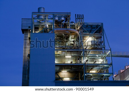 Thermal power station. Spain. Europe