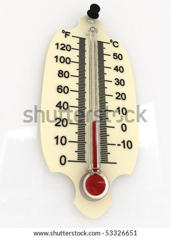 thermometer 3D (0 degrees)