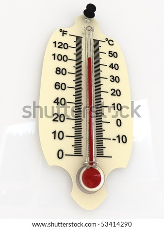 thermometer 3D (40 degrees)