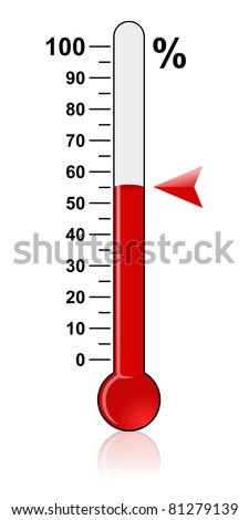 Thermometer - Goal - stock photo