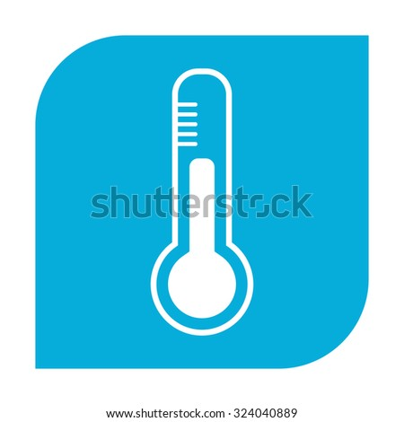 Thermometer icon. - stock photo