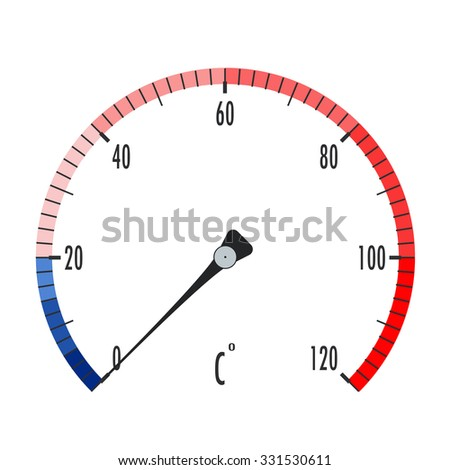 Thermometer icon. Raster version. Illustration isolated on white. - stock photo