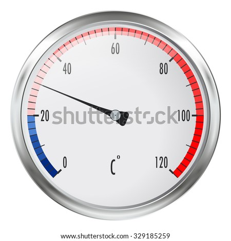 Thermometer.  Illustration isolated on white background. Raster version. - stock photo