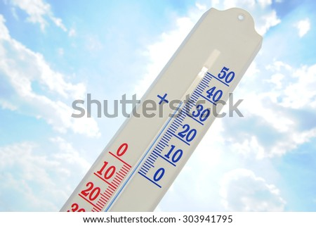 Thermometer in a hot day