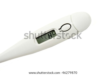 Thermometer indicating the need to go to hospital