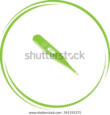 thermometer. Internet button. Raster icon. - stock photo