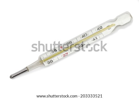 thermometer on the white background - stock photo