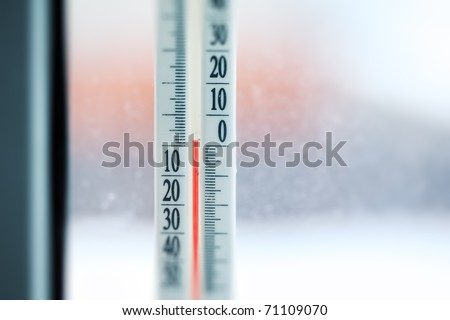 Thermometer showing temperature - stock photo