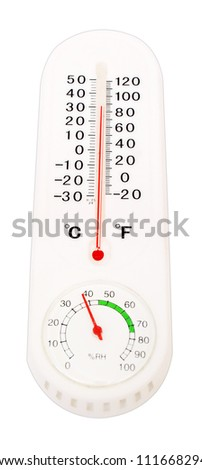 Thermometer with Celcius and Farenheit scales