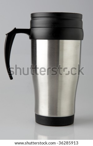 thermos cofee cup - stock photo