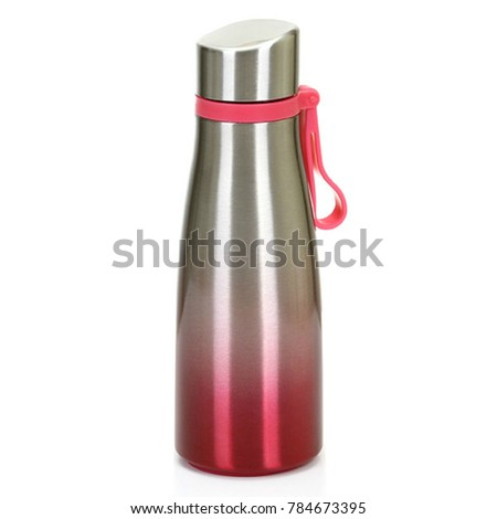 thermos flask isolated