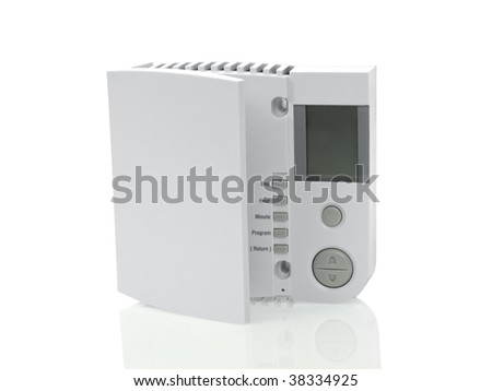 Thermostat isolated on white background - stock photo