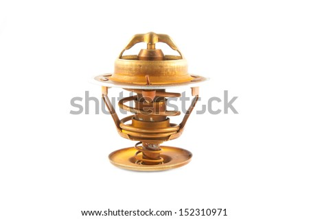 Thermostat of car engine isolated on white background