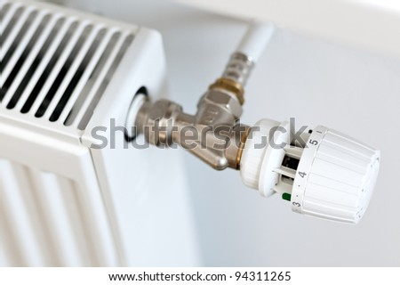 Thermostat on a radiator