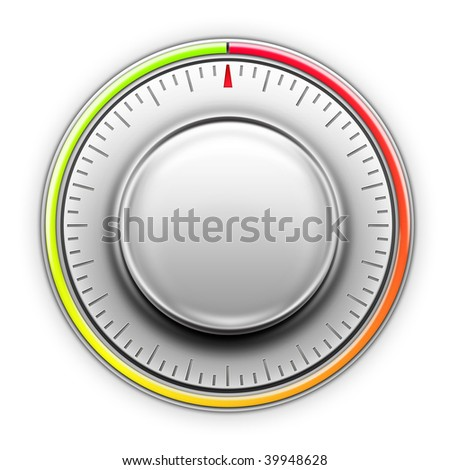 Thermostat on the white background. 2D artwork. Computer Design