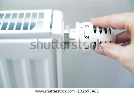 thermostat regulation - stock photo