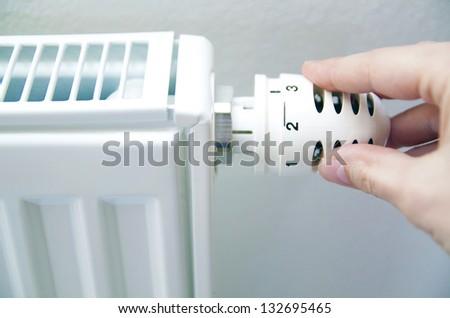 thermostat regulation - stock photo