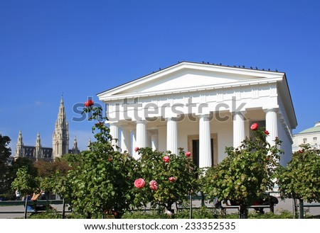 Theseus Temple in the Volksgarten Park in Vienna, Austria - stock photo