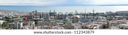 Thessaloniki  panorama.  University area - stock photo