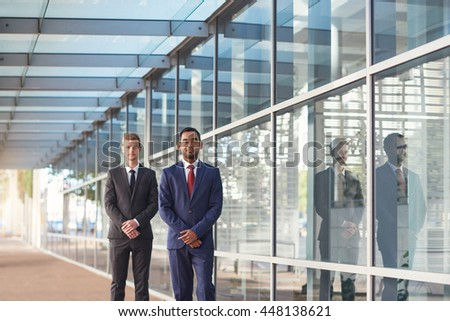 They're success times two in the corporate world - stock photo