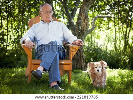 They say a dog is man's best friend - stock photo