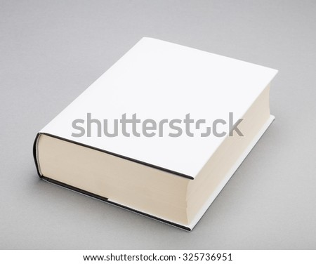 Thick Blank book with white cover - stock photo