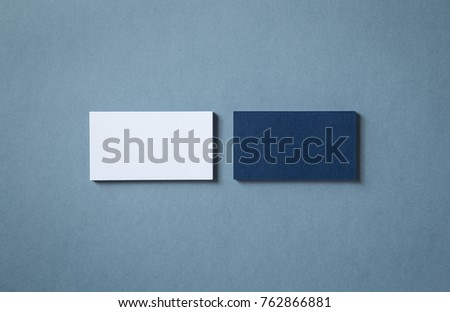 Thick blank doublesided business cards textured stock photo royalty thick blank double sided business cards with textured surface stacked up on a grey background reheart Choice Image