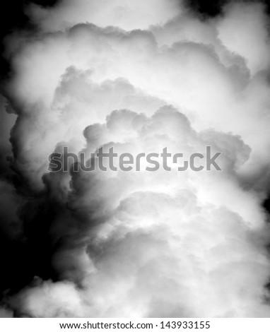 thick dark smoke in a fire.  - stock photo
