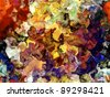 Thick layer of colorful digital paint suitable as background for art related projects - stock vector