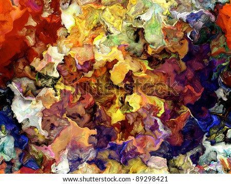 Thick layer of colorful digital paint suitable as background for art related projects
