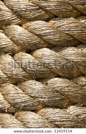 thick rope - stock photo