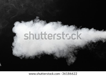 thick stream of fog - stock photo