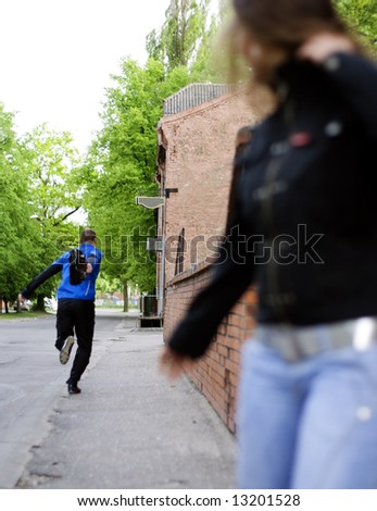 Thief. - stock photo