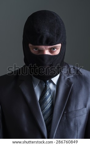 Thief in black mask