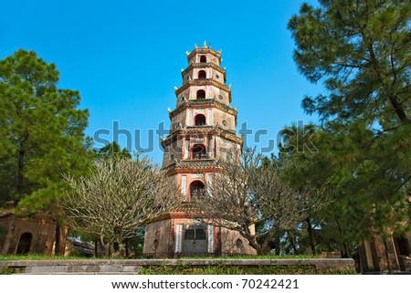 Thien Mu Pagoda, Hue, Vietnam. Unesco World Heritage Site.