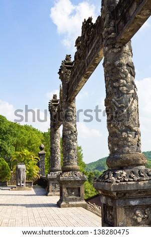 Thien Mu Pagoda in Hue ,Vietnam - stock photo